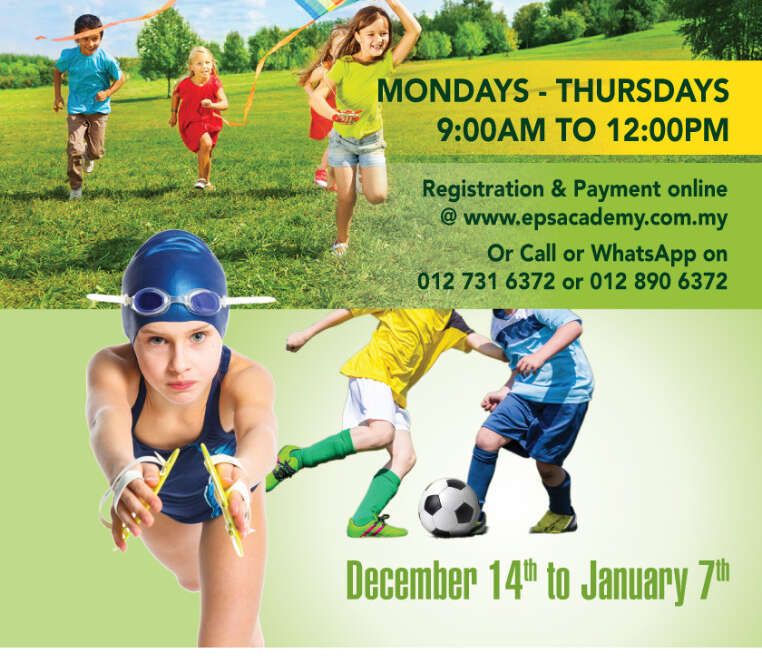 Year End Holiday camp – December 14th to January 7th